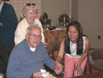 Mrs. Jane Weyrauch, Mr. Don Sykes & Bichha