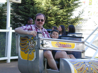 Ada's favorite ride--the Scrambler