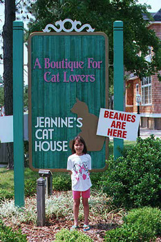 at Jeanine's cat house